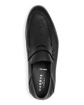 Harrys of London - Men's Edward Leather Apron Toe Penny Loafers