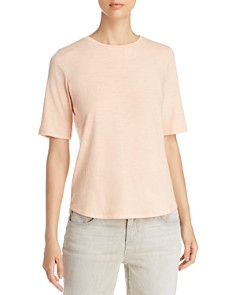 Eileen Fisher - Short-Sleeve Organic-Cotton Tee