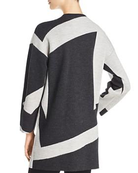 Eileen Fisher - Asymmetric Color Block Kimono Cardigan