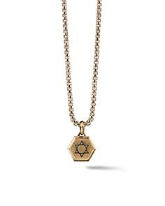 David Yurman - Roman Star of David Amulet in 18K Gold