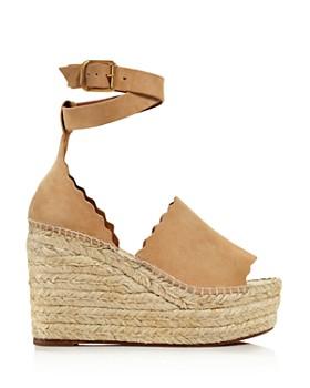 Chloé - Women's Lauren Espadrille Platform Wedge Sandals