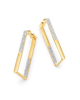 Bloomingdale's - Diamond Inside-Out Rectangular Earrings in 14K Yellow Gold, 1.0 ct. t.w. - 100% Exclusive