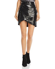 Alice and Olivia - Fidela Sequined Mini Skirt