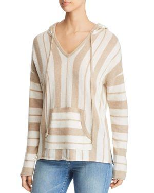 Serena Stripe Baja Pullover Top, Golden Honey Heather