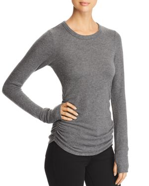 RED HAUTE Side-Ruched Sweater in Marengo