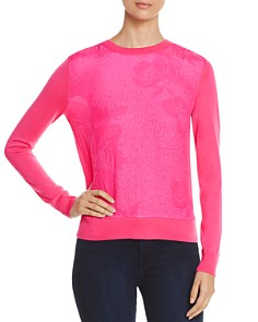 Tory Burch - Floral Cloqué Front Sweater