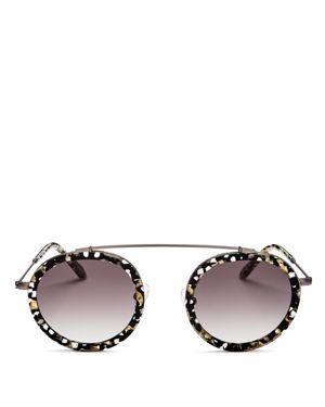 Krewe Women's Conti Brow Bar Round Sunglasses, 48mm