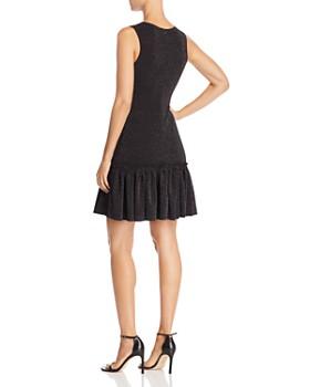 AQUA - Metallic Knit Flounce Hem Dress - 100% Exclusive