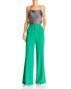 Alice and Olivia - Dylan High-Waist Wide-Leg Pants