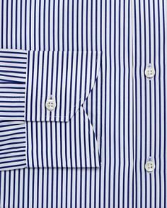 Canali - Candy-Striped Regular Fit Dress Shirt