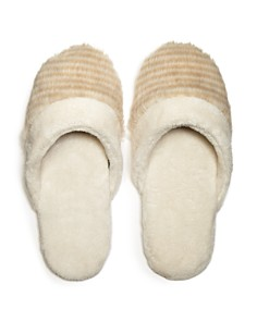 Natori - Faux Fur Slippers - 100% Exclusive