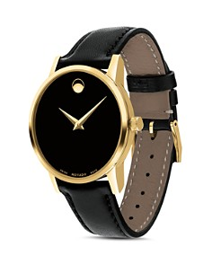 Movado - Museum Classic Yellow Gold-Tone Case Watch, 28mm