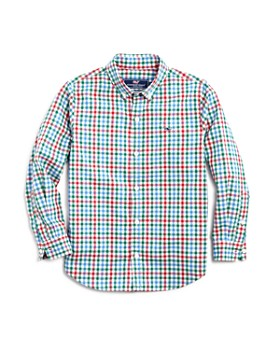 5cf880177 Vineyard Vines - Boys' Higgins Beach Gingham Shirt - Little Kid, Big Kid ...