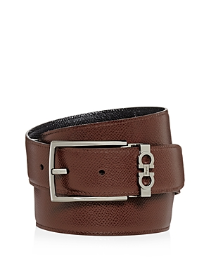 Salvatore Ferragamo Men's Gancini Keeper Reversible Leather Belt