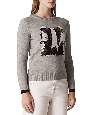Whistles Badger Intarsia Sweater