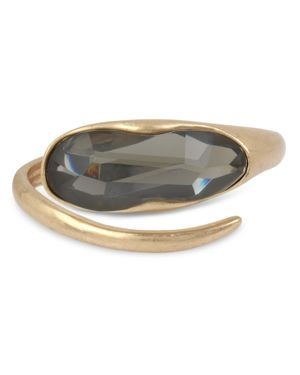 Sculptural Bypass Hinged Bangle Bracelet in Black Diamond