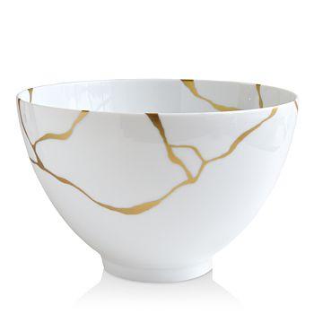 Bernardaud - Kintsugi-Sarkis 24K Gold Deep Salad Bowl, Set of 2