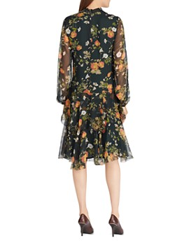 Ralph Lauren - Floral Print Tie-Neck Dress