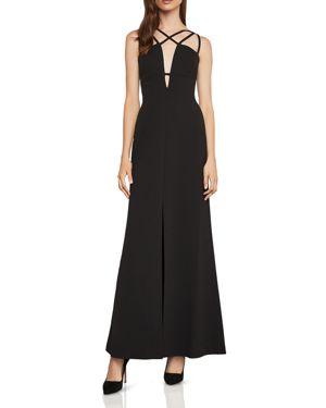 Bcbgmaxazria Parker Strap-Detail Crepe Gown
