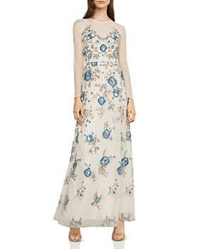 BCBGMAXAZRIA - Embroidered Tulle Gown