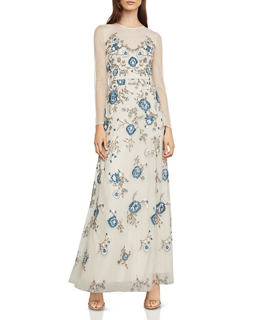BCBGMAXAZRIA Embroidered Tulle Gown | Bloomingdale\'s
