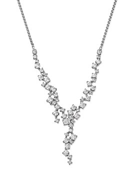 Bloomingdale's - Diamond Cascade Necklace in 14K White Gold, 2.0 ct. t.w. - 100% Exclusive