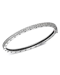 Roberto Coin - 18K White Gold Symphony Pois Moi Diamond Hinged Bangle Bracelet