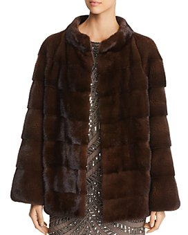 Maximilian Furs - Short Mink Fur Coat- 100% Exclusive