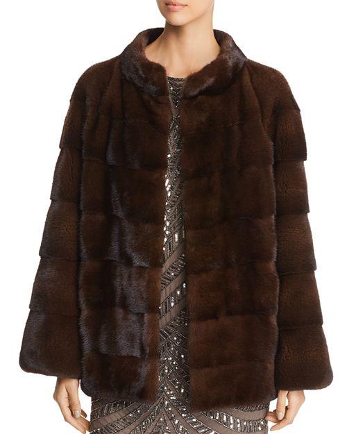 Maximilian Furs - Short Mink Fur Coat- 100% Exclusive