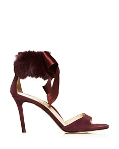 MARION PARKE - Women's Lucille Suede & Fur High-Heel Sandals