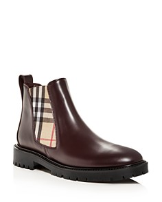 Burberry - Women's Allostock Leather Booties