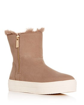 J/Slides - Women's Henley Platform Booties