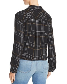 Bella Dahl - Tie-Front Plaid Button-Down Shirt