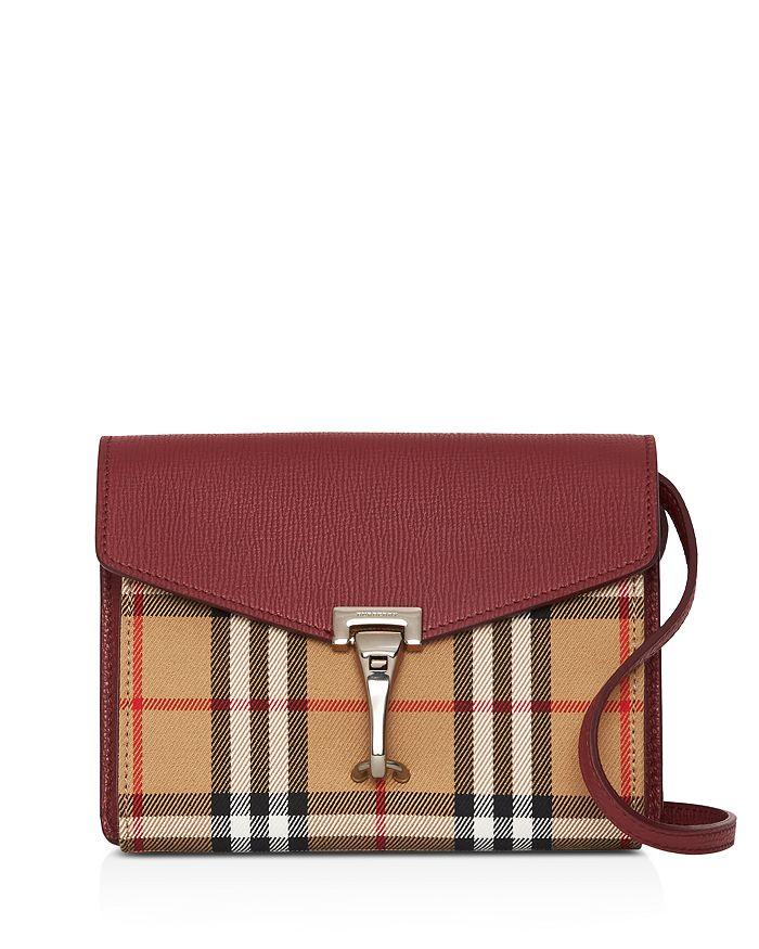 Burberry - Macken Mini Vintage Check & Leather Crossbody