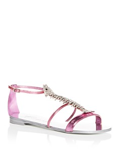 Giuseppe Zanotti - Women's Embellished T-Strap Sandals