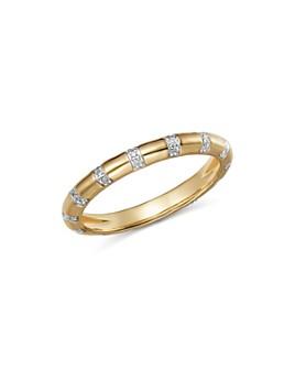 Adina Reyter - 14K Yellow Gold Pavé Diamond Band Ring