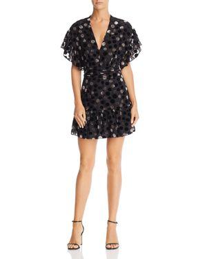 Saylor Burnout Velvet Dot Dress
