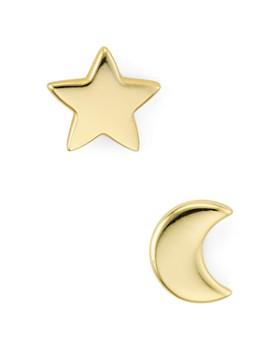 b8d56e19c Argento Vivo - Moon & Star Stud Earrings ...