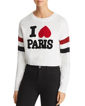 Marled - I Love Paris Crop Sweater