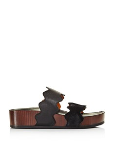 Chloé - Women's Lauren Leather Slide Sandals