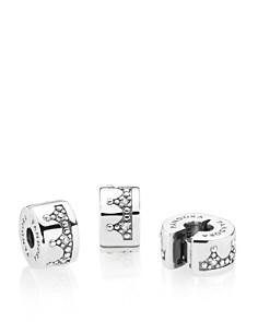 PANDORA Dazzling Crown Sterling Silver Charm - Bloomingdale's_0