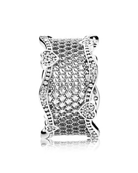 PANDORA - Lace of Love Sterling Silver & Cubic Zirconia Ring