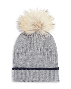 The Men's Store at Bloomingdale's - Fur-Trimmed Knit Beanie - 100% Exclusive