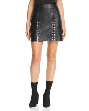Blanknyc Hook-and-Eye Faux Leather Skirt