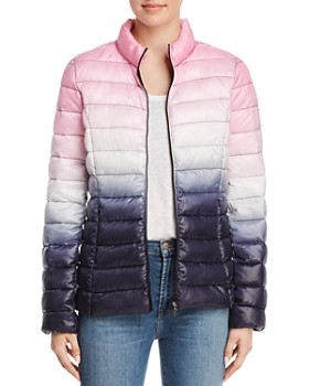 AQUA - Packable Ombré Puffer Coat - 100% Exclusive