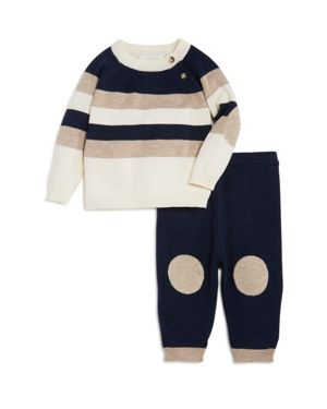 Miniclasix Boys' Striped Sweater & Knit Pants Set - Baby