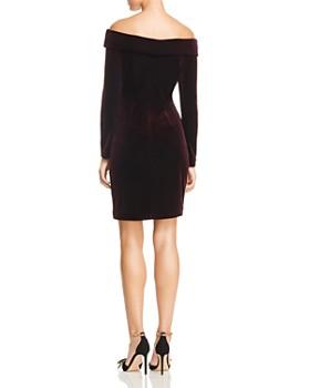 Eliza J - Off-the-Shoulder Velvet Dress