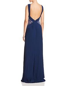 Tadashi Shoji - Lace-Inset Pleated Gown