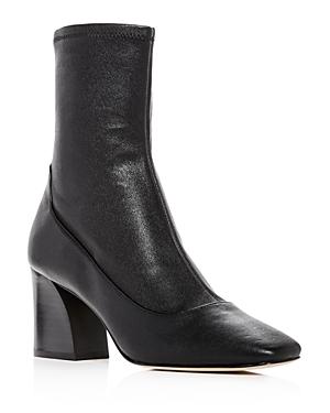Donald Pliner Women's Gerrie Leather High Block-Heel Booties