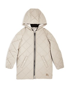 Burberry - Girls' Mila Quilted Hooded Jacket - Little Kid, Big Kid
